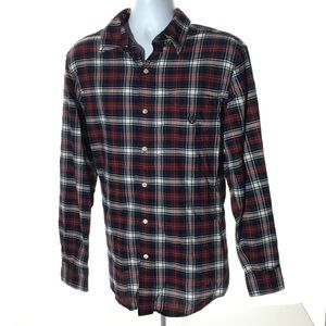CHAPS Plaid Button up Sz M